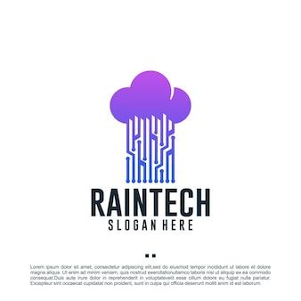 Технология rain, вдохновение для дизайна логотипа
