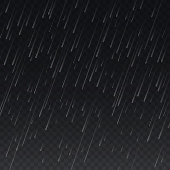 Rain on transparent plaid background