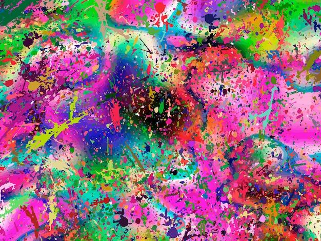 壁紙ポスターカード招待状のウェブサイトのスプラッシュインクの染みと虹の抽象的な背景...