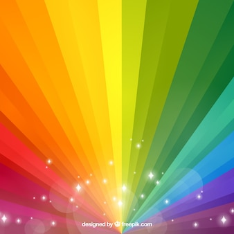 Rainbow background in gradient