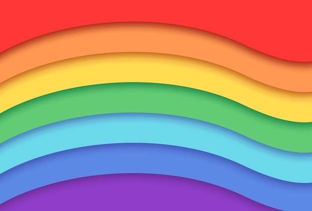 紙のスタイルで虹の背景