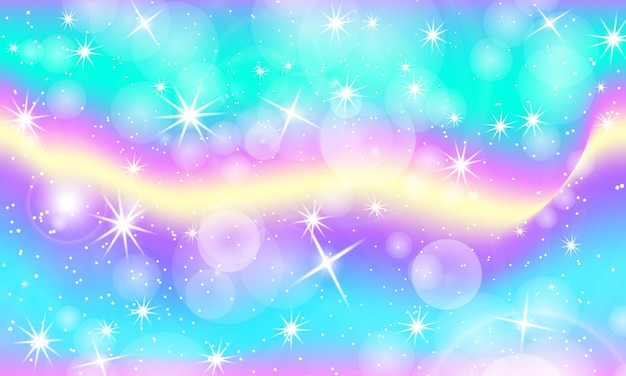 Rainbow background. unicorn pattern in princess colors.