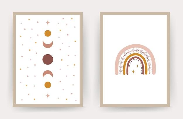 Rainbow boho posters.