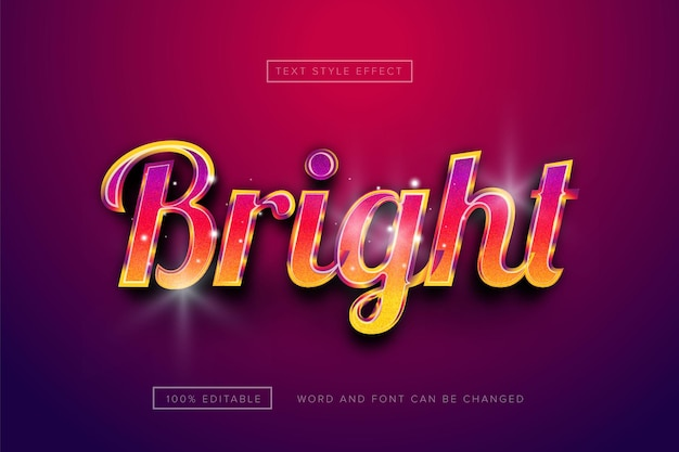 Rainbow bright text effect