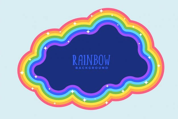 Rainbow cloud with text space