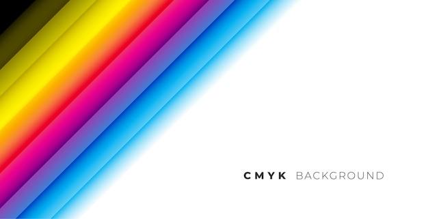 Rainbow cmyk colors line stripe background