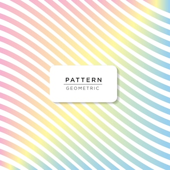 Rainbow color pattern