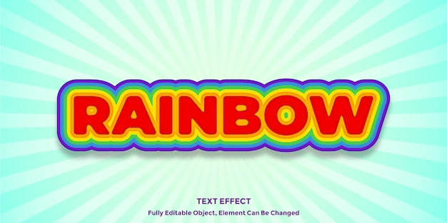Rainbow color text effect