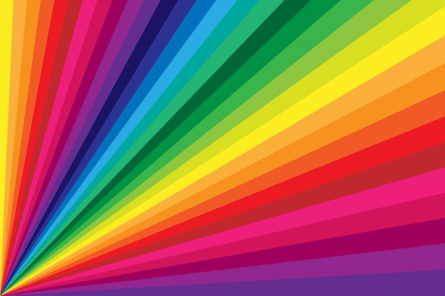 Rainbow colored stripe twisting background