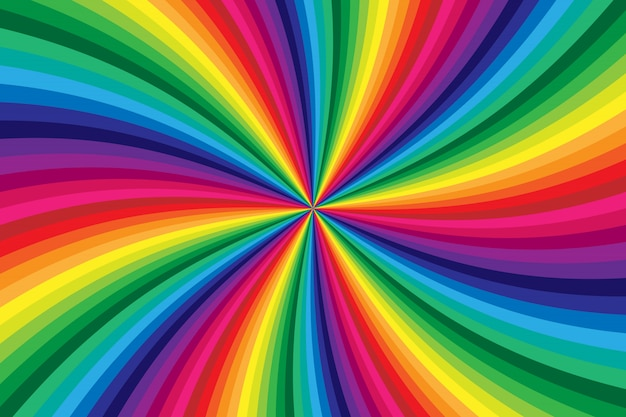 Rainbow colored swirl twisting background