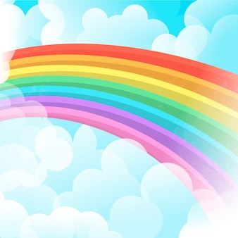Rainbow concept in flat design