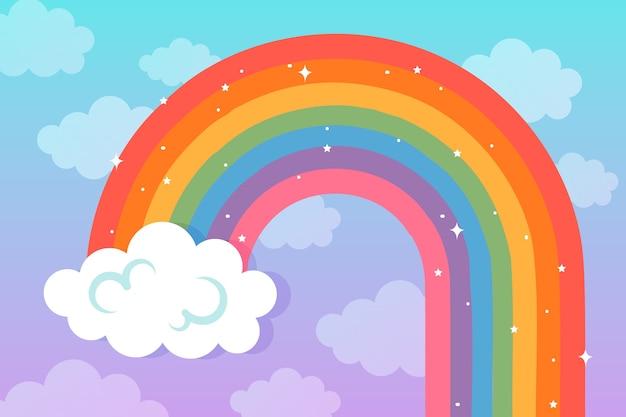 Концепция радуги в плоском дизайне