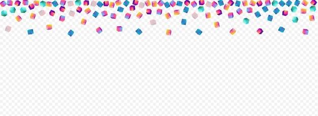 무지개 요소 파노라마 투명 배경입니다. 여러 가지 빛깔된 기하학적 상자 브로셔.