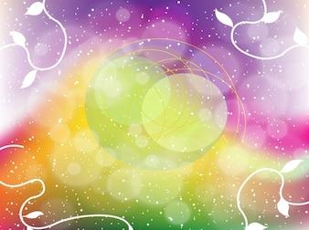 Rainbow fantasy bubbles vector background