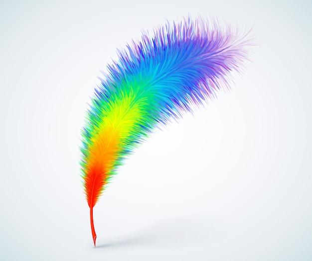 Rainbow feather pen