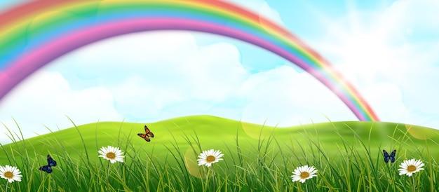 Rainbow above the field