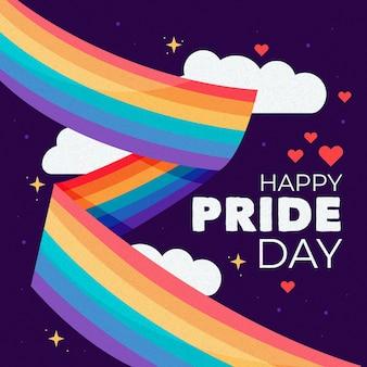 Giorno dell'orgoglio di design bandiera arcobaleno