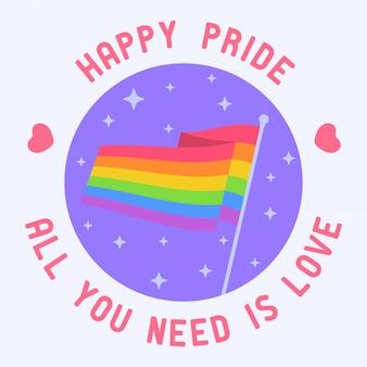 Rainbow flag lgbt pride icon