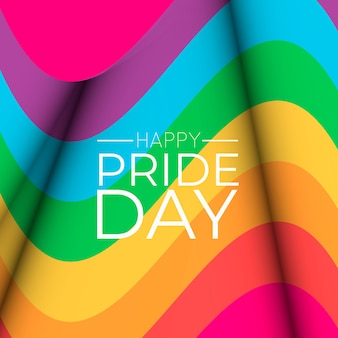 Rainbow flag pride day event