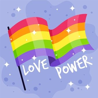 Rainbow flag pride day