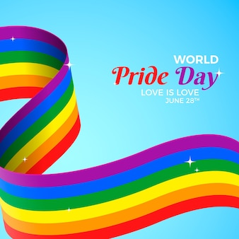Rainbow flag with pride day design