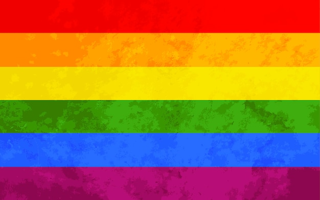 Rainbow flag with texture, lgbt background