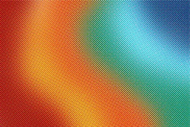 Rainbow gradient background with halftone effect