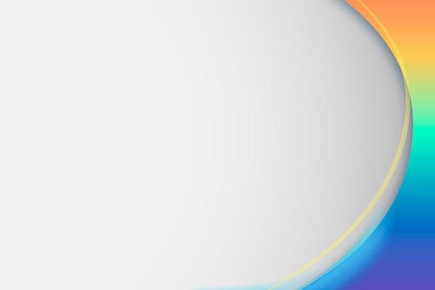 Rainbow gradient curve frame template
