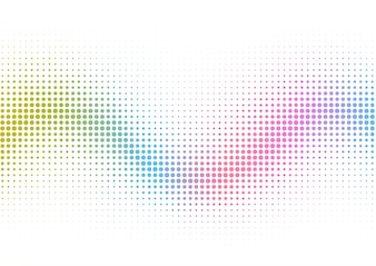 Rainbow halftone dots background