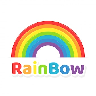 Rainbow icon. colorful rainbow