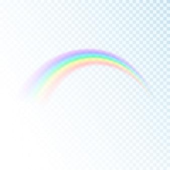 虹のアイコンが透明な背景に分離されました。太陽光のカラフルなスペクトル