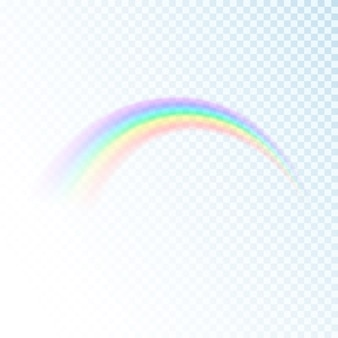 Rainbow icon isolated on transparent background. sun light colorful spectrum