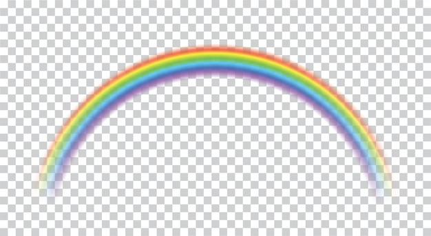 Rainbow icon realistic. perfect icon isolated on transparent