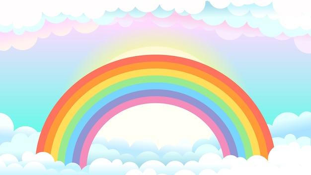 ファンタジーの世界の虹