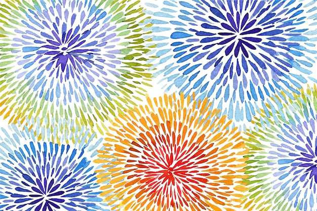 絞り染めスタイルの背景の虹