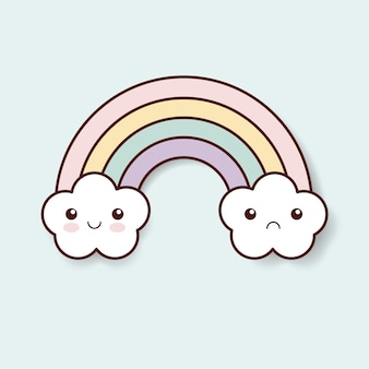 Rainbow kawaii