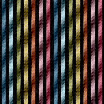 Rainbow lines on black background seamless texture