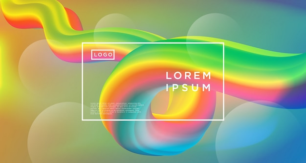 Rainbow loop abstract background