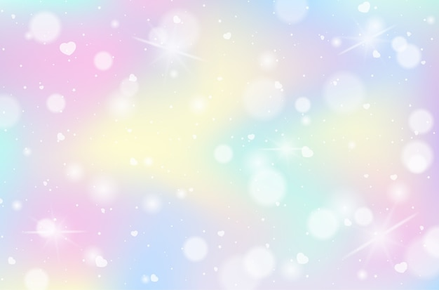 Радуга пастель размытый фон