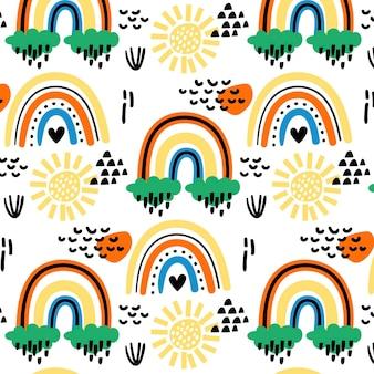 Rainbow pattern design