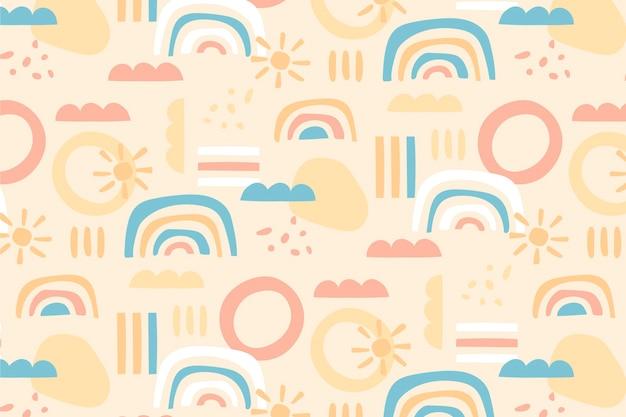 무지개 패턴 디자인