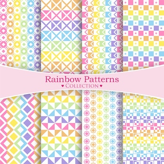 Rainbow patterns collection