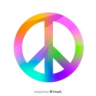 Rainbow peace sign background