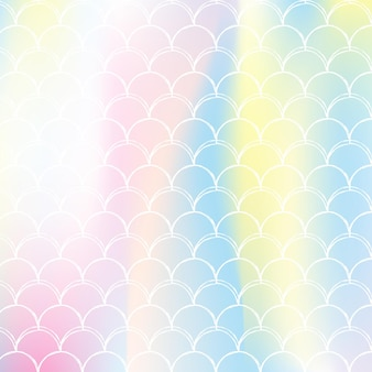 Радуга масштабирует фон с рисунком принцессы русалки каваи.