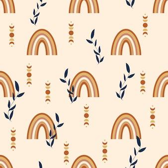무지개 원활한 패턴 디자인입니다. 벡터 일러스트 레이 션.