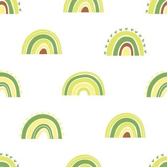 Rainbow seamless pattern design.