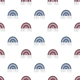 Rainbow seamless pattern digital paper abstract boho blue pink print