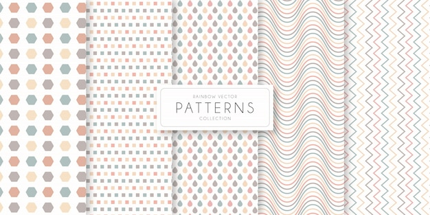 Rainbow shape and line   pattern collection