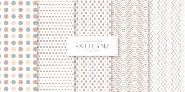 Коллекция rainbow shape и line pattern