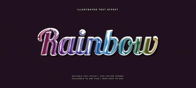 Rainbow shiny text style font effect